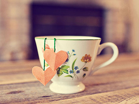 tea cup with DIY tea bag