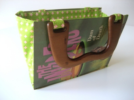 upcycled book to purse craft