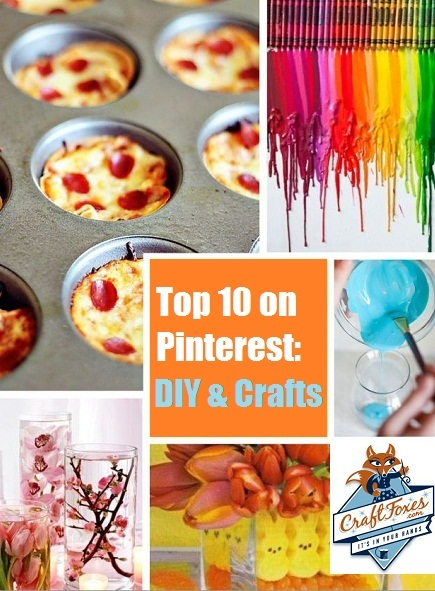 pinteresting crafts top 10 pinterest diy projects craftfoxes