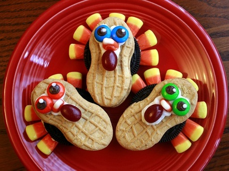Turkey Cookies made from Nutter Butters
