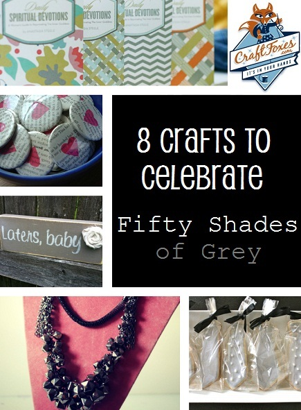 Fifty Shades of Grey book crafts, Pinterest DIY projects