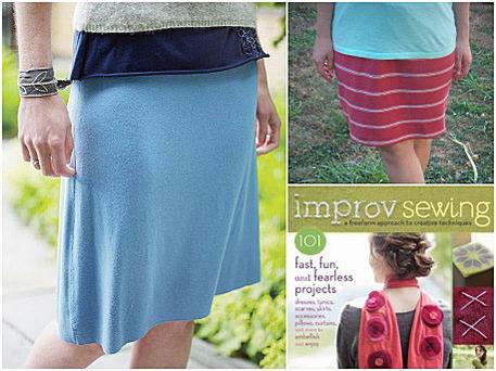 Improv Sewing skirt