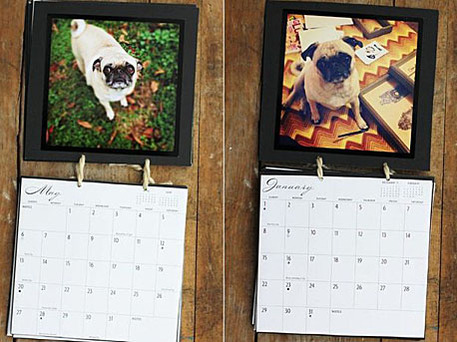 diy calendar using photos