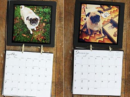 diy calendar using photos