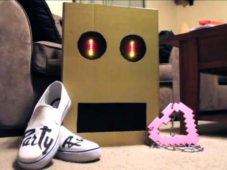 DIY LMFAO Robot Costume with Flashing LED Lights