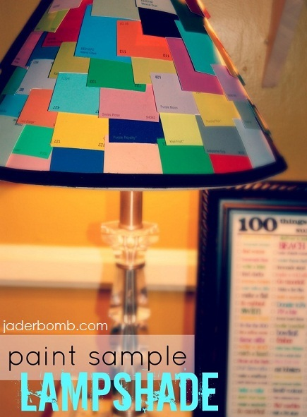 paint chip sample lampshade making lights