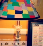 Paint Sample Lampshade — Making Lights