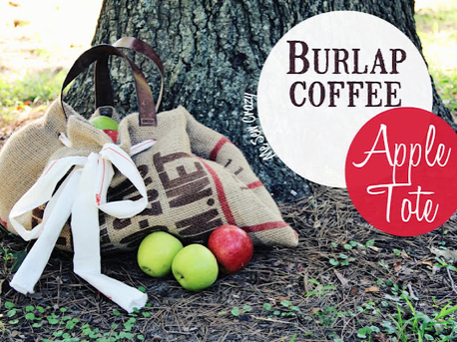 make a tote bag from burlap
