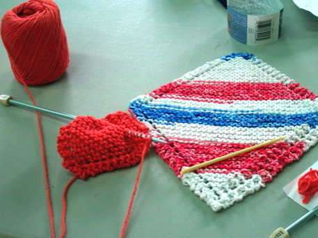 A knitting class at Creative Habitat