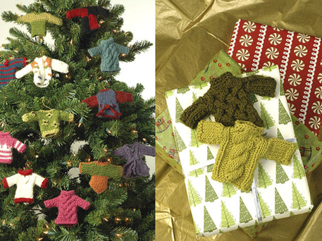Sweater Knitting Patterns to Make a Christmas Tree Ornament ...