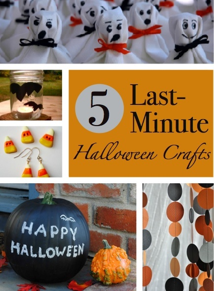 easy halloween crafts last-minute