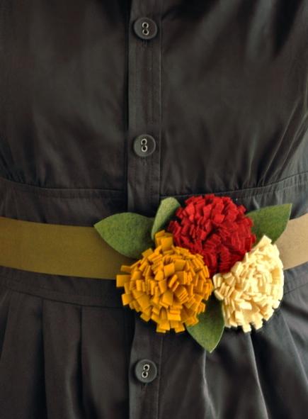 Felt Flowers Belt