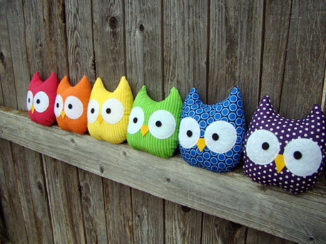 Cute Sewn plushie owl project pattern