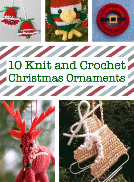 knit and crochet Christmas ornaments