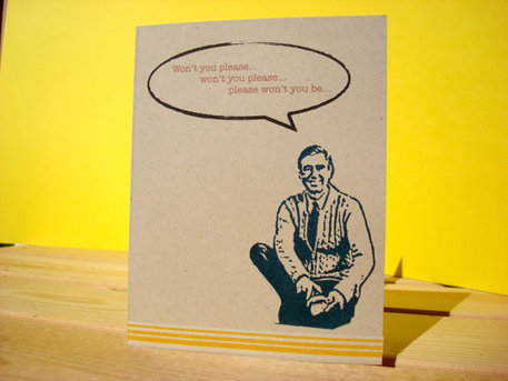 Mr. Rogers card