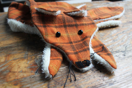 how to sew a fox scarf with free pattern