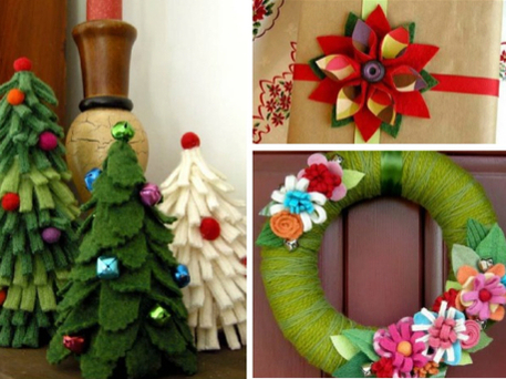 upcycled Christmas, holiday decor and ornaments with Betz White