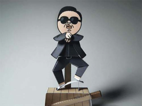 gangnam style craft paper doll