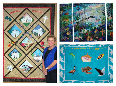 pictorial quilts made by Betty Alofs