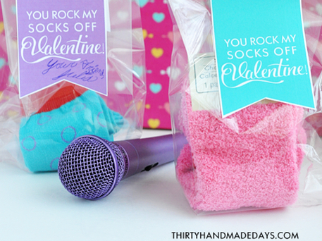 free Valentine printable sock crafts