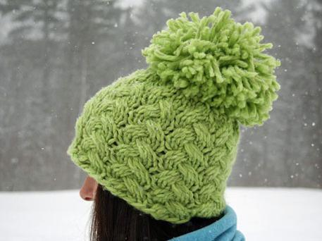 Free Pom Pom Knit Beanie Pattern