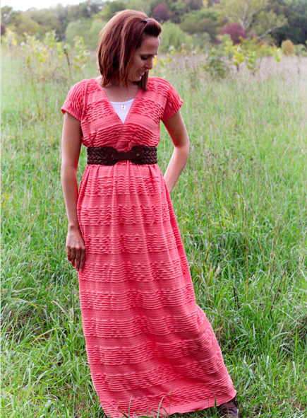 Easy Ruffle Maxi Dress Pattern - Craftfoxes