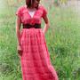 Easy Ruffle Maxi Dress Pattern