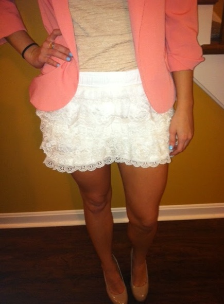 crochet shorts lace