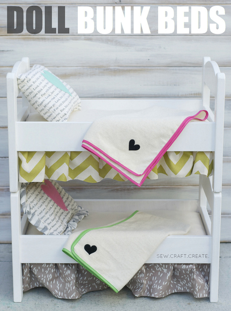 DIY bunk bed plans for doll bed