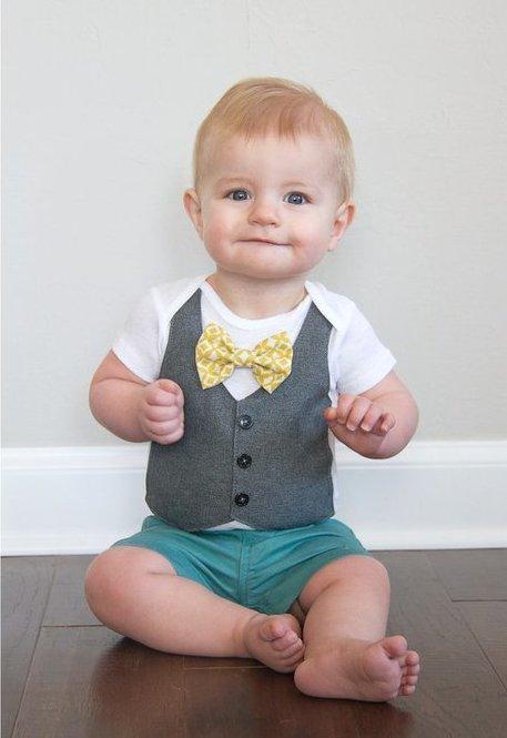 DIY Faux Vest Baby Onesie