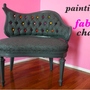 Reupholster a bench with fabric paint