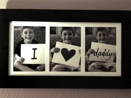 Photo frame Father's Day gift idea