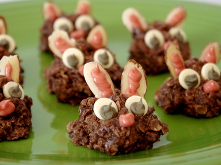 No-Bake Easter Bunny Cookies
