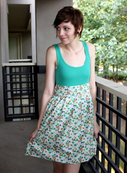 Easy tank top sundress sewing pattern