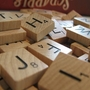 An assortment of Scrabble tiles