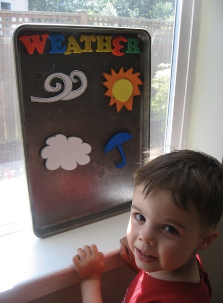Springtime weather board craft idea for kids
