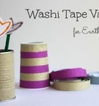 Earth Day Crafts: Washi Tape Vases