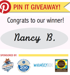 Winner! Pin It Giveaway