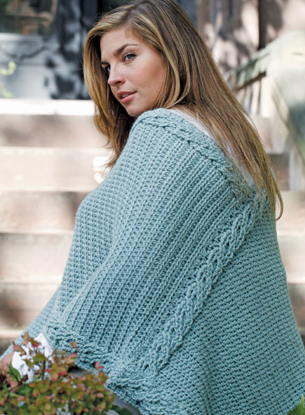 plus-size crochet poncho