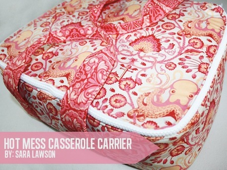 Casserole Carrier (Free Sewing Pattern)