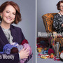 Julia Gillard knitting photos