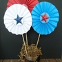 Red, white and blue pinwheels