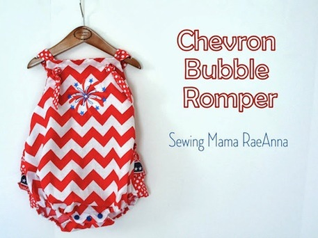 A red and white striped romper for a little girl