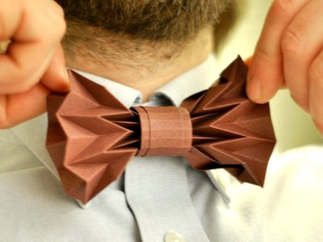 paper bow tie, easy origami instructions