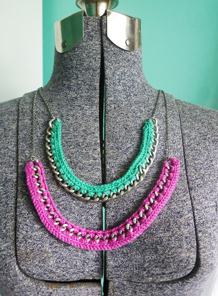 crochet necklace patterns and ideas