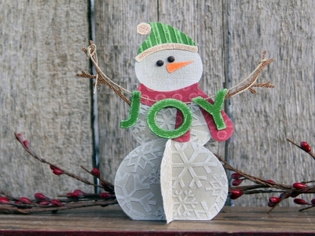 Christmas paper crafts, snowman