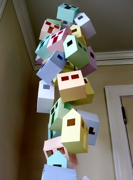 Paper Houses DIY Baby Mobile