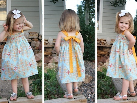 Tie-Back Sundress Pattern for Girls - Craftfoxes