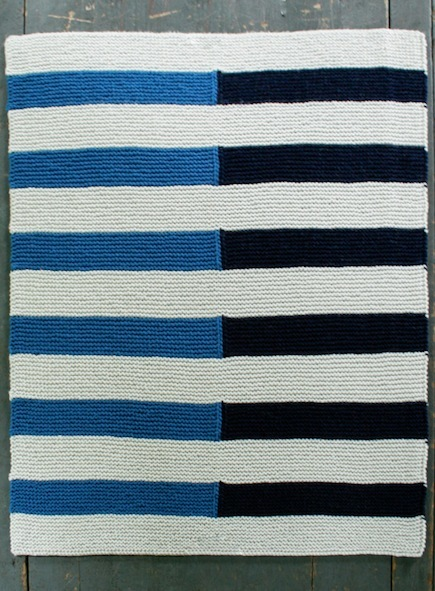 Striped Baby Blanket (Free Knitting Pattern) - Craftfoxes