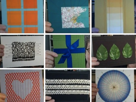 Handmade cards made with unique found objects